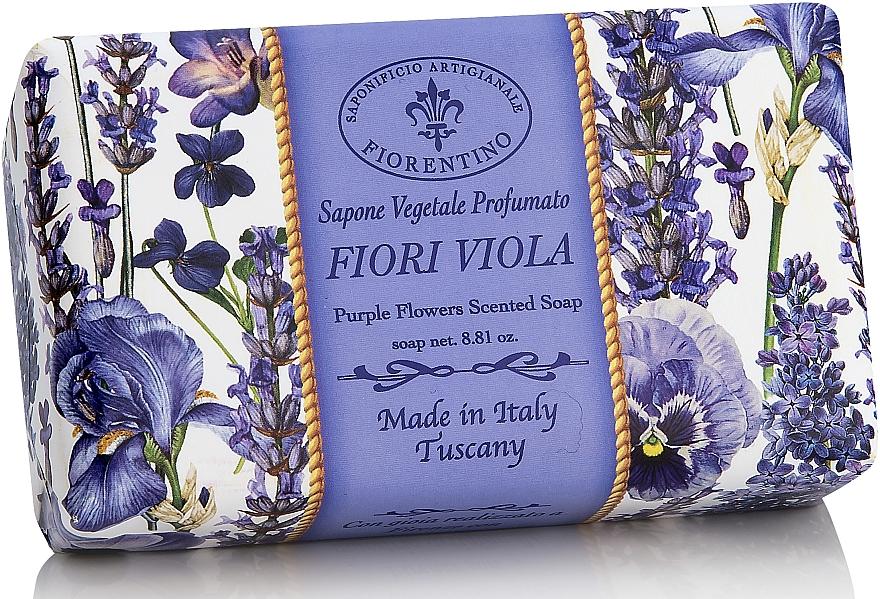 """Natural Soap """"Purple Flowers"""" - Saponificio Artigianale Fiorentino Purple Flowers Scented Soap"""