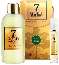 Fragrances, Perfumes, Cosmetics Luxana Seven Gold - Set (edt/1000ml + edt/50ml)