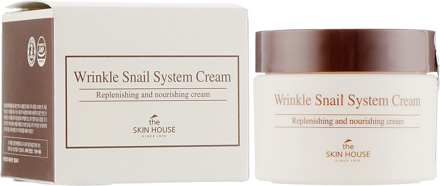 Anti-Aging Snail Face Cream - The Skin House Wrinkle Snail System Cream