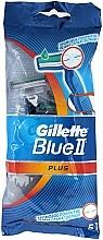 Fragrances, Perfumes, Cosmetics Disposable Shaving Razor Set, 5 pcs - Gillette Blue II Plus