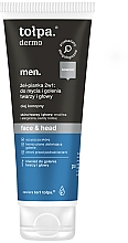 Fragrances, Perfumes, Cosmetics 2-in-1 Wash & Shave Face & Head Foam  - Tolpa Dermo Men Face & Head Gel 2in1 Foam