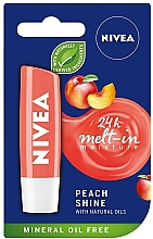"Fragrances, Perfumes, Cosmetics Lip Balm ""Peach Shine"" - Nivea Lip Care Peach Shine Lip Balm"