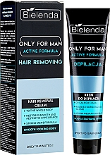 Fragrances, Perfumes, Cosmetics Depilatory Cream - Bielenda Only For Man Active Formula Cream