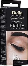 Fragrances, Perfumes, Cosmetics Brow Tint Gel, black - Delia Eyebrow Tint Gel ProColor 1.0 Black
