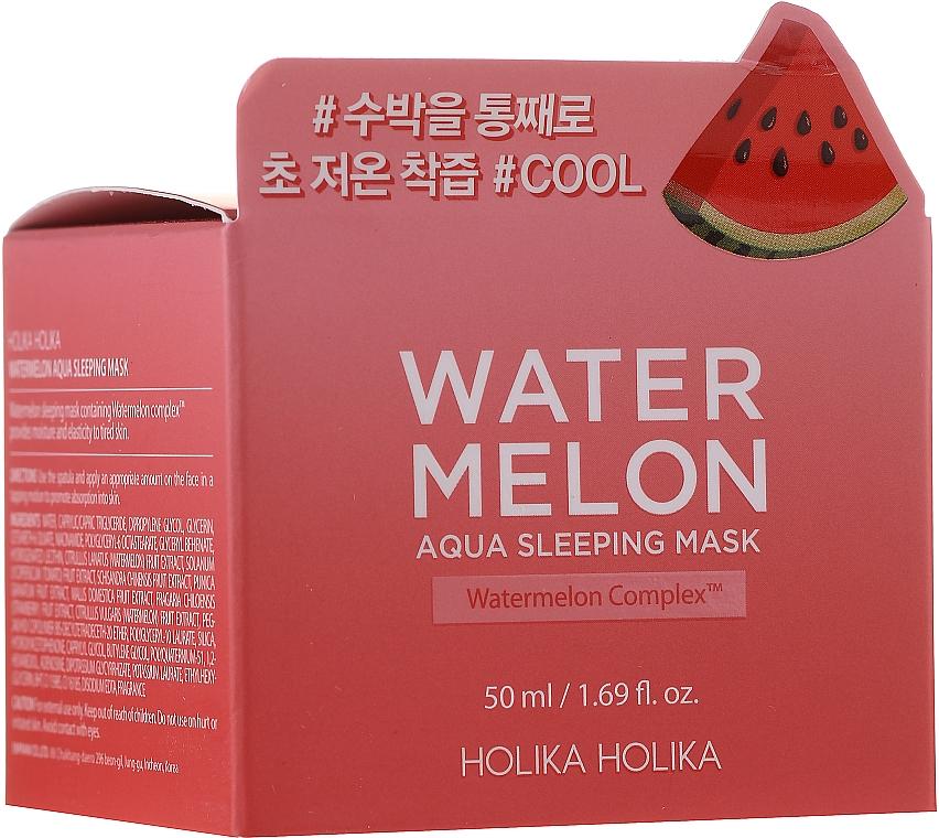 Moisturizing Watermelon Facial Night Mask - Holika Holika Watermelon Aqua Sleeping Mask