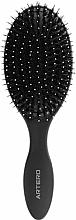 Fragrances, Perfumes, Cosmetics Oval Hair Brush - Oval Graphite Artero Black