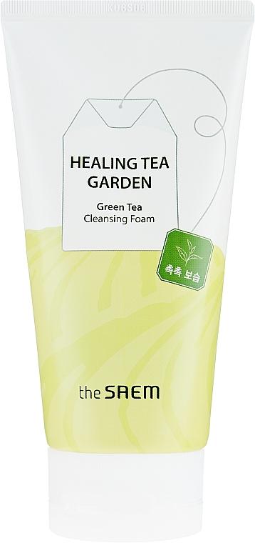 Face Cleansing Foam - The Saem Healing Tea Garden Green Tea Cleansing Foam