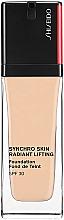 Fragrances, Perfumes, Cosmetics Long-Lasting Foundation - Shiseido Synchro Skin Radiant Lifting Foundation SPF 30