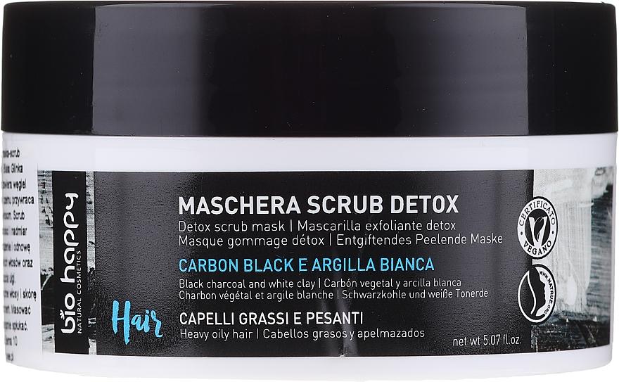 Hair Scrub Mask - Bio Happy Carbon Black & White Clay Scrub Mask