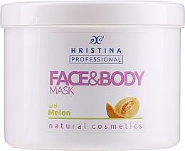 Fragrances, Perfumes, Cosmetics Melon Face & Body Mask - Hristina Professional Melon Face & Body Mask
