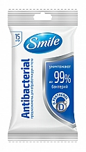 Fragrances, Perfumes, Cosmetics Wet Wipes with D-Panthenol, 15 pcs - Smile Ukraine Antibacterial
