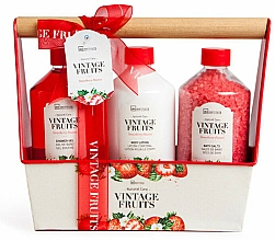 Fragrances, Perfumes, Cosmetics Set - IDC Institute Vintage Fruits (sh/g/260ml + b/lot/260ml + salt/260g)