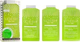 "Fragrances, Perfumes, Cosmetics Pedicure Set ""Green Tea"" - Voesh Pedi In A Box 3 In 1 Deluxe Pedicure Green Tea"
