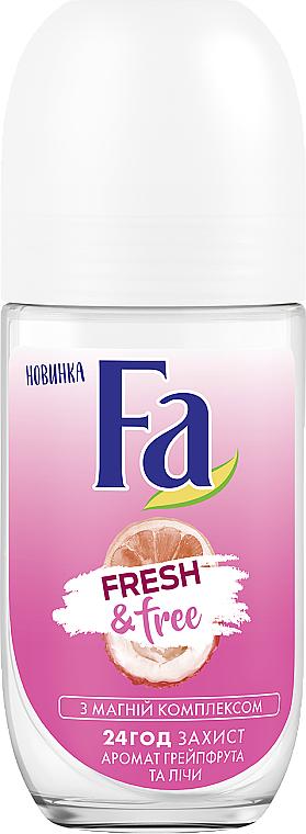 "Roll-on Deodorant ""Grapefruit-Lychee"" - FA Fresh & Free Grapefruit & Lychee"