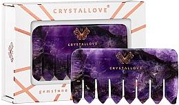 Fragrances, Perfumes, Cosmetics Amethyst Scalp Massage Comb - Crystallove