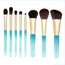 Fragrances, Perfumes, Cosmetics Makrup Brush Set, 8pcs - Nabla Aquamarine Essential Brush Set