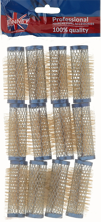 Curlers 21/63 mm, blue - Ronney Wire Curlers