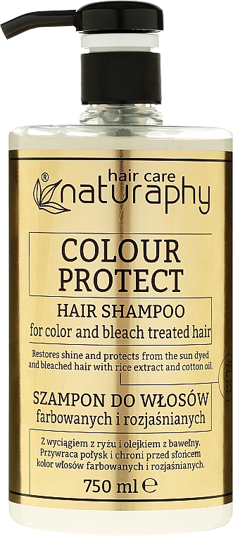Rice Extract Shampoo for Colored & Bleached Hair - Bluxcosmetics Naturaphy Hair Shampoo