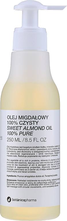 "Almond Oil ""100% Purity"" - Botanicapharma Oil 100%"
