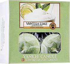 Fragrances, Perfumes, Cosmetics Tea Light Candles - Yankee Candle Scented Tea Light Candles Vanilla Lime