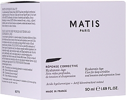 Fragrances, Perfumes, Cosmetics Anti Deep Wrinkle Face Cream - Matis Reponse Corrective Hyaluronic-Age