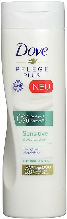 Body Lotion for Sensitive Skin - Dove Care Plus Sensitive Body Lotion — photo N1