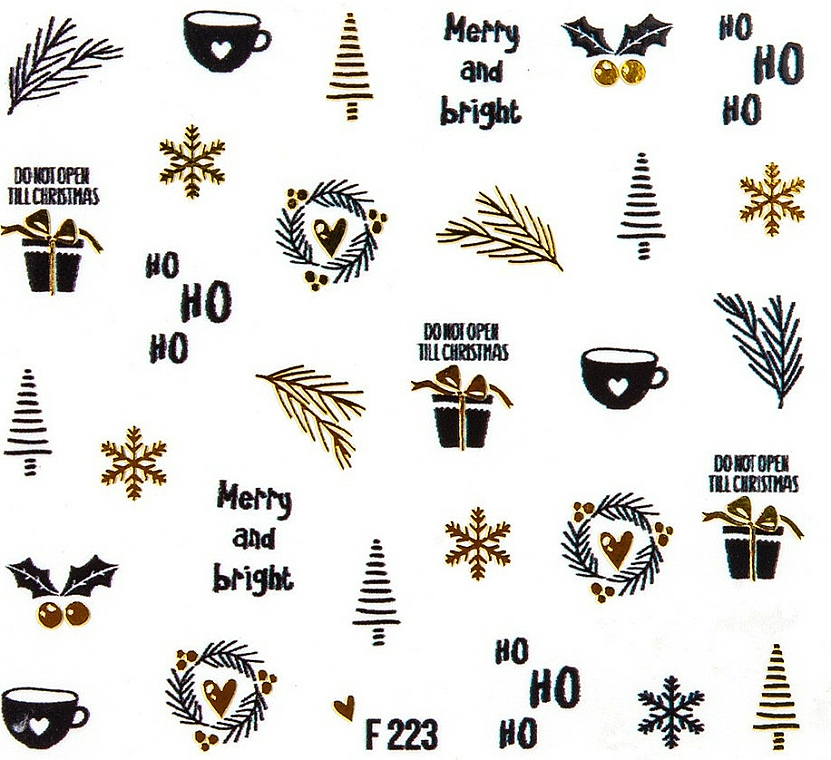 """Nail Water Stickers """"Christmas 2020"""" - Peggy Sage Christmas 2020 (1pcs)"""