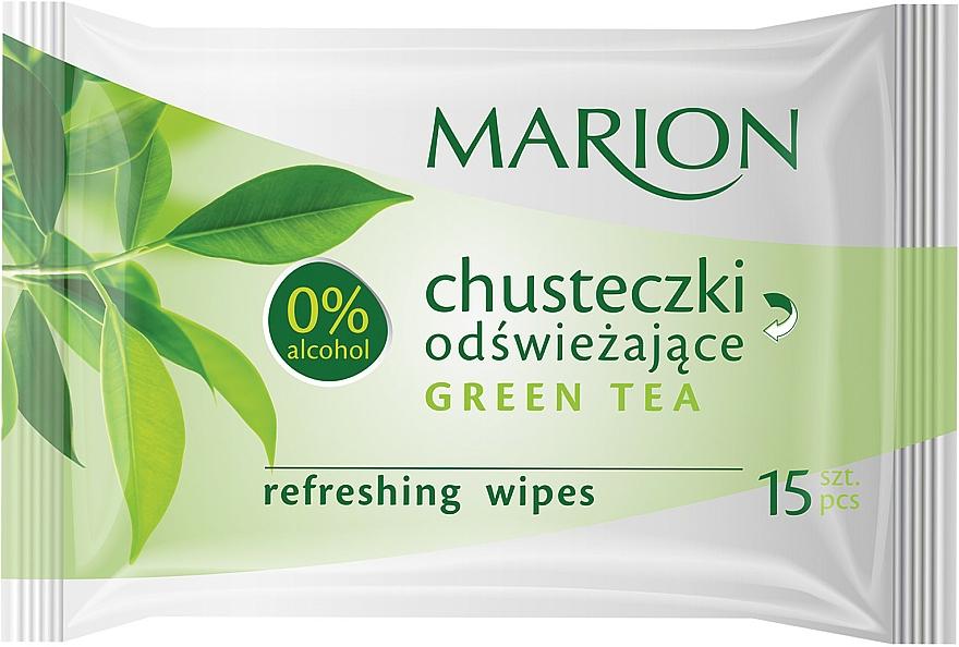 "Refreshing Wipes ""Green Tea"", 15 pcs - Marion"