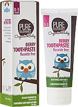 "Fragrances, Perfumes, Cosmetics Kids Toothpaste ""Berries"" - Pure Beginnings Baby Berry Toothpaste"
