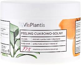 "Body Peeling ""Mate Tea and Monoi Oil"" - Vis Plantis Sugar & Salt Body Scrub — photo N2"