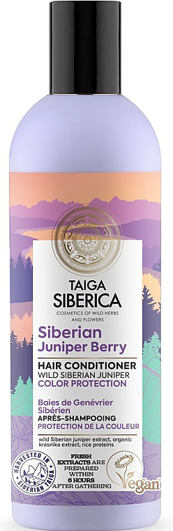 """Hair Conditioner """"Color Preserving for Dyed Hair"""" - Natura Siberica Doctor Taiga Siberian Juniper Berry Hair Conditioner"""