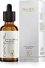 Fragrances, Perfumes, Cosmetics Moisturizing Hyaluronic Acid Facial Serum for All Skin Types - Nanoil Face Serum Hyaluronic Acid 2%