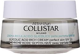 Fragrances, Perfumes, Cosmetics Glycolic Acid Rich Cream - Collistar Pure Actives Glycolic Acid Rich Cream SPF20