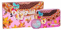 Fragrances, Perfumes, Cosmetics Desigual Fresh World - Set (edt/100ml + pouch)