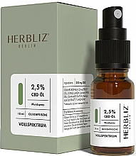 Fragrances, Perfumes, Cosmetics Olive Oil Mouth Spray 2,5% - Herbliz Olive Fresh CBD Oil Mouth Spray 2,5%