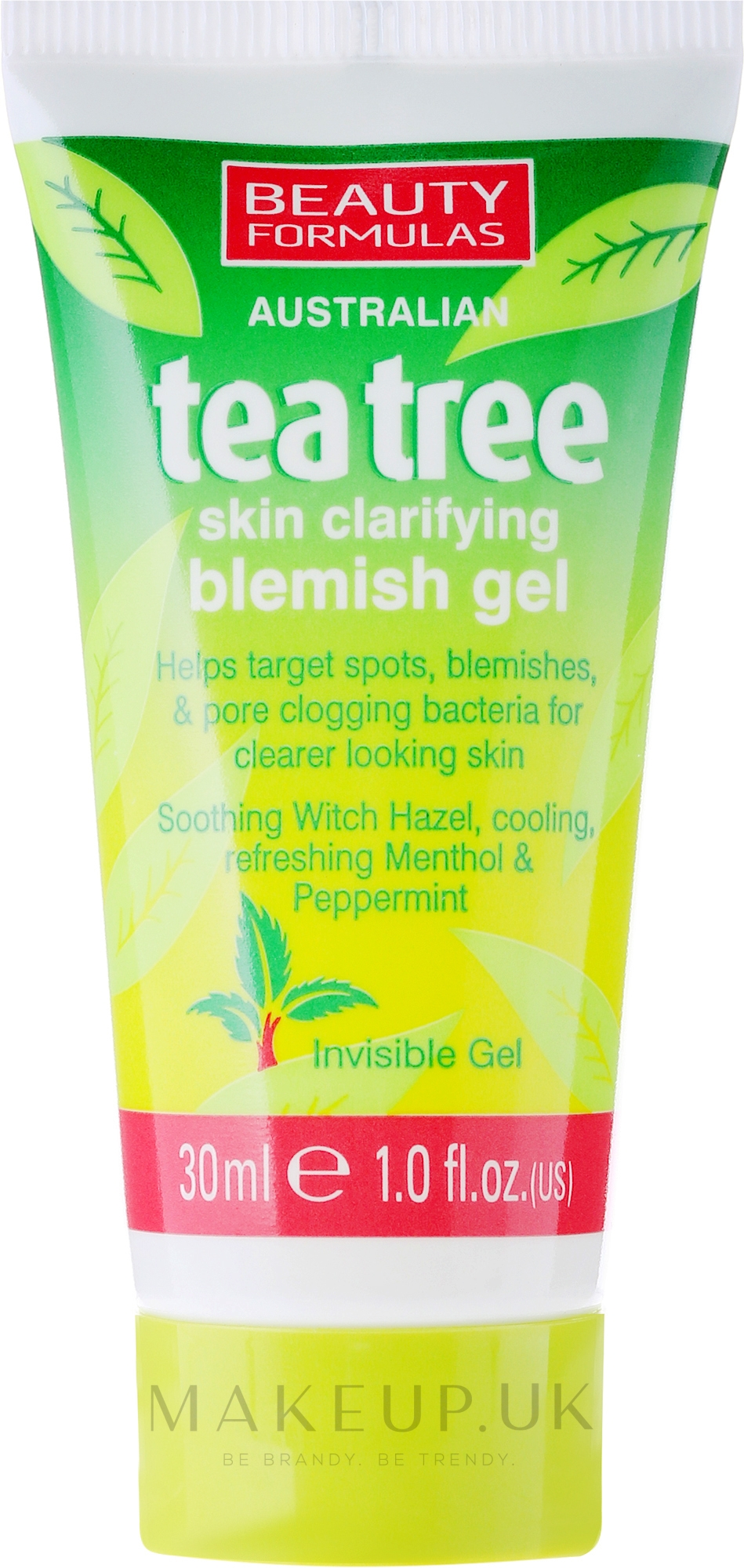 "Anti-Inflammatory Face Gel ""Tea Tree"" - Beauty Formulas Tea Tree Skin Clarifying Blemish Gel — photo 30 ml"