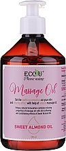Fragrances, Perfumes, Cosmetics Massage Oil - Eco U Massage Oil Sweet Almond Oil