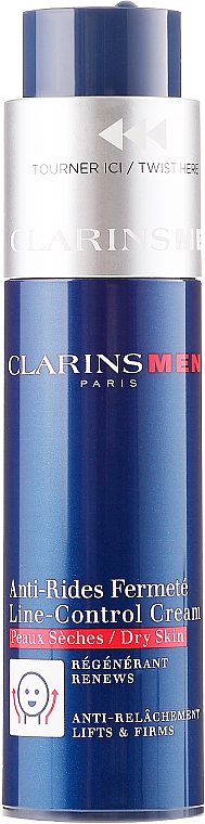 Anti-Aging Cream for Dry Skin - Clarins Men Line-Control Cream For Dry Skin — photo N2