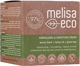 Fragrances, Perfumes, Cosmetics Smoothing Normalizing Face Cream - Melisa Eco