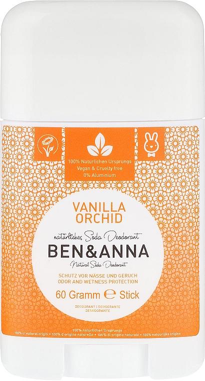 "Deodorant ""Vanilla and Orchid"" (plastic) - Ben & Anna Natural Soda Deodorant Vanilla Orchid"