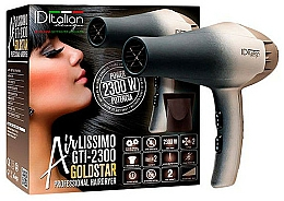 Fragrances, Perfumes, Cosmetics Hair Dryer - Iditalian Airlissimo GTI 2300 Gold Star