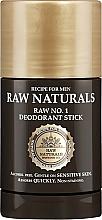 Fragrances, Perfumes, Cosmetics Deodorant Stick - Recipe For Men RAW Naturals No. 1 Deodorant Stick