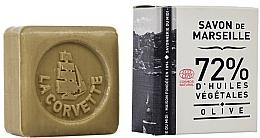 Fragrances, Perfumes, Cosmetics Olive Soap, square, in pack - La Corvette Savon de Marseille Olive