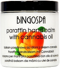 Fragrances, Perfumes, Cosmetics Paraffin Hand Balm with Apricot and Hemp Oils - BingoSpa