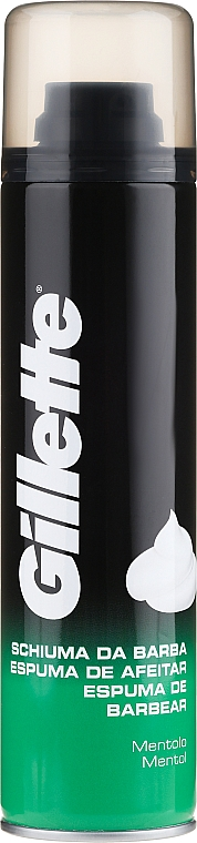 """Shaving Foam """"Menthol"""" - Gillette Menthol Shave Foam for Men"""