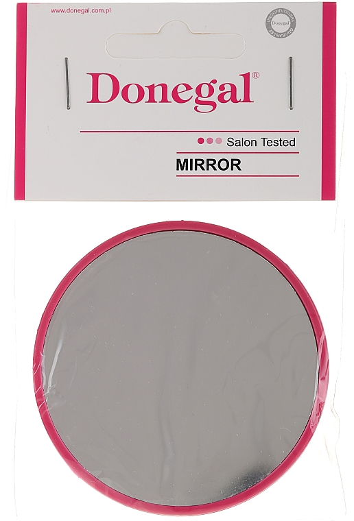 Compact Round Mirror 9511, 7 cm, crimson - Donegal