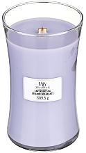 Fragrances, Perfumes, Cosmetics Scented Candle in Glass - WoodWick Hourglass Candle Lavender Spa