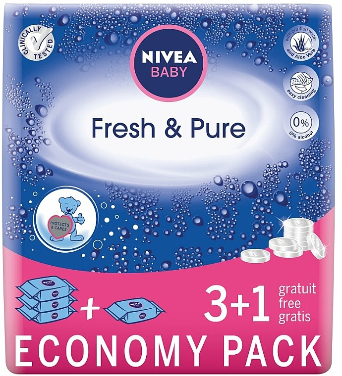 "Baby Wet Wipes ""Pure and Fresh"" 4x63 szt - Nivea Baby Pure & Fresh"