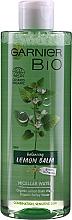 Fragrances, Perfumes, Cosmetics Balancing Micellar Water with Organic Melissa - Garnier Bio Micellar Water Lemon Balm