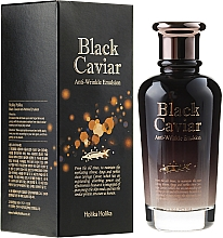 Fragrances, Perfumes, Cosmetics Facial Emulsion with Black Caviar Extract - Holika Holika Black Caviar Anti-Wrinkle Emulsion